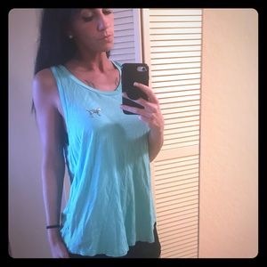 Pink turquoise tank top